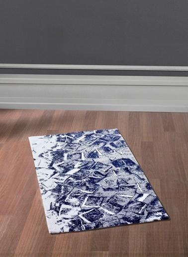 Sarev Sarev Ice Desenli 70 x 110 cm Pamuklu Halı Lacivert